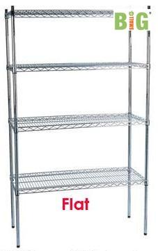 Flat Chrome Wire Rack 4L3O 1200WX450DX1800Hmm For Bread Bottle Display