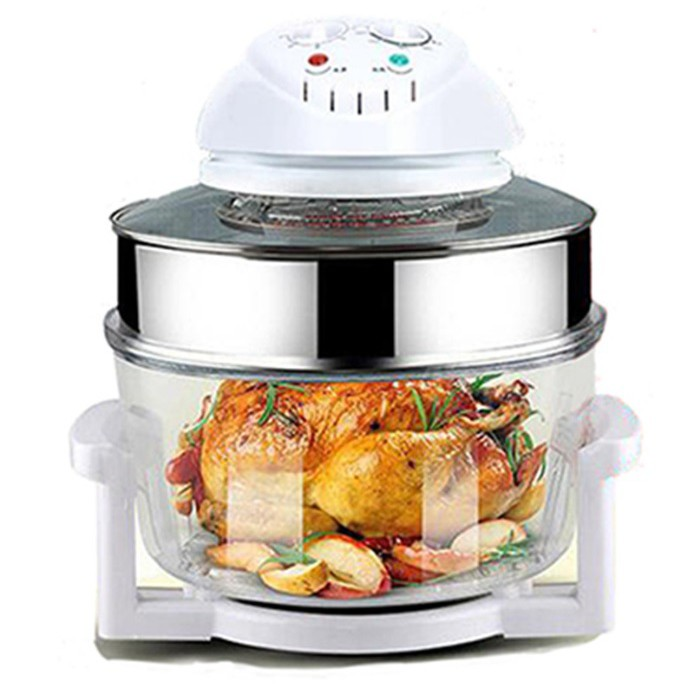 Flavorwave 17L Halogen Oven Turbo Halogen Convection Oven With Glass Bowl