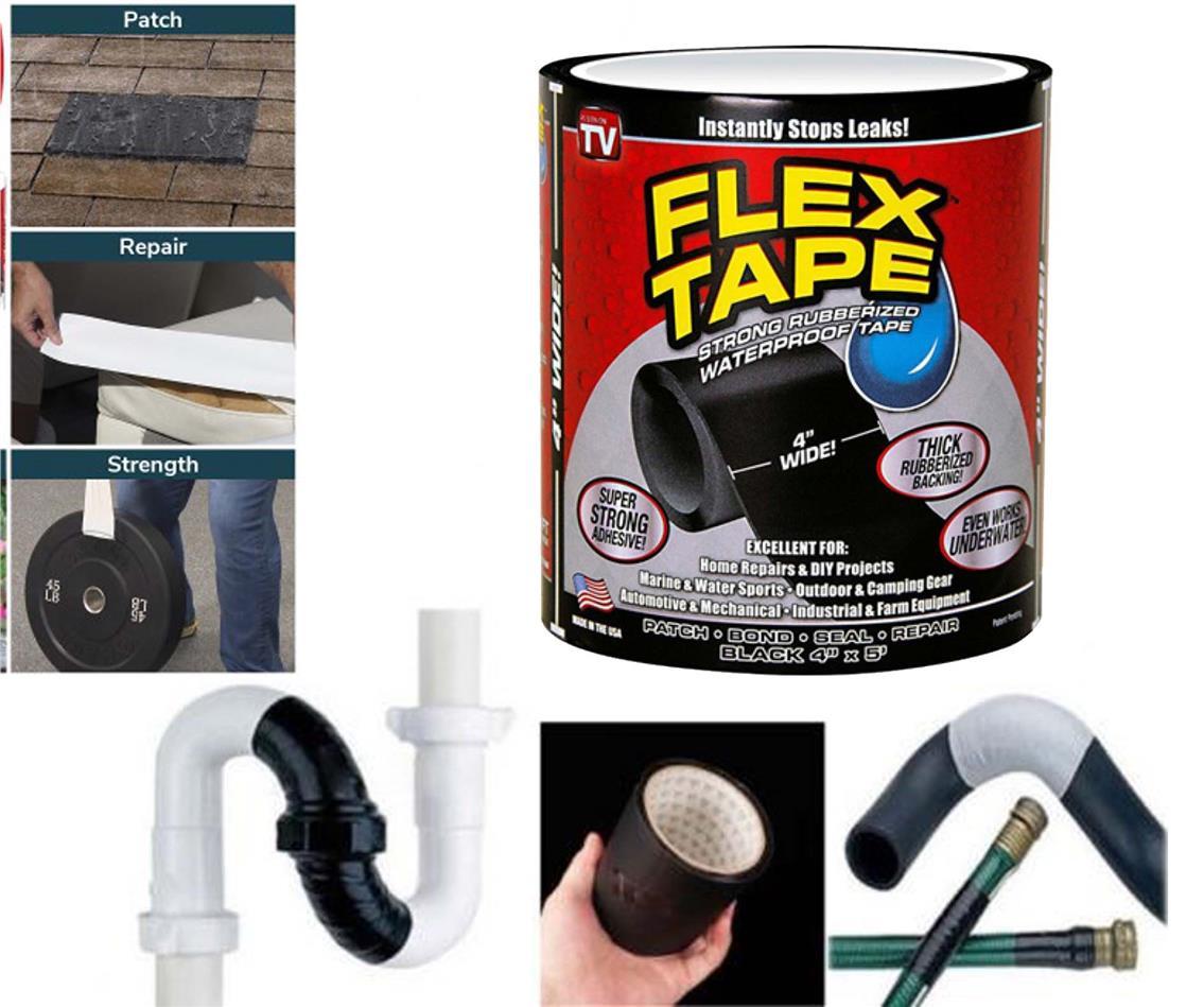 Flex Tape 4' Wide Waterproof Seal Stop Leaks Tape