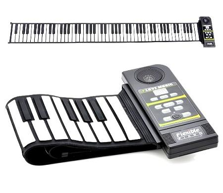 Flexible Roll Up Keyboard Piano With Speaker (KP-88).