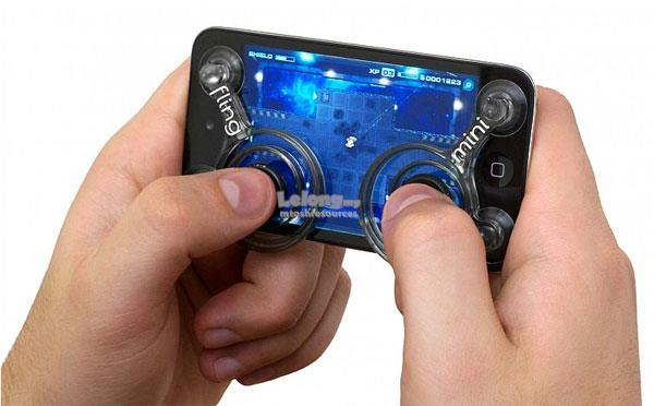 FLING MINI MOBILE GAMEPAD DUAL ANALOG JOYSTICKS FOR SMARTPHONE GAMING