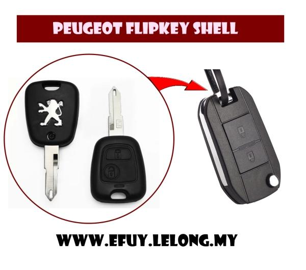 Flip Folding Key Shell For Peugeot 405 106 206 207 306 307