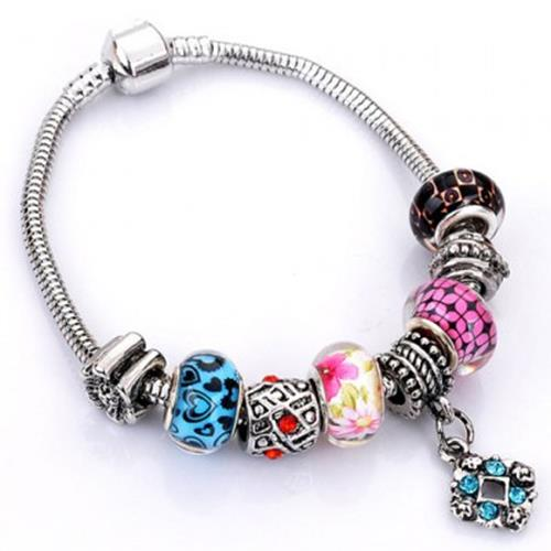 FLOWER ELEPHANT HEART BUTTERFLY BEAD BRACELET (RANDOM COLOR PATTERN)