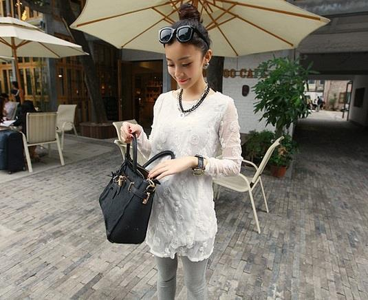 Flower Wild Lace Top WHITE