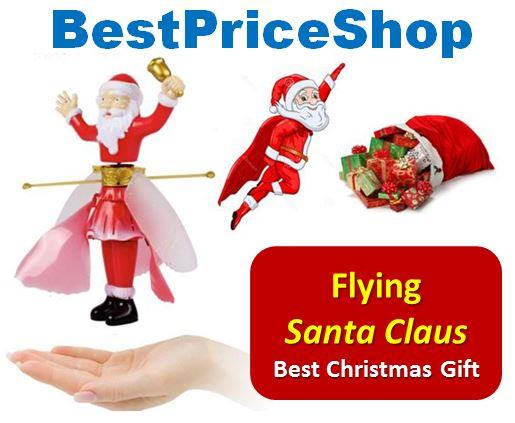 Flying Induction Santa Claus Fairy Toy Christmas Gift free shipping