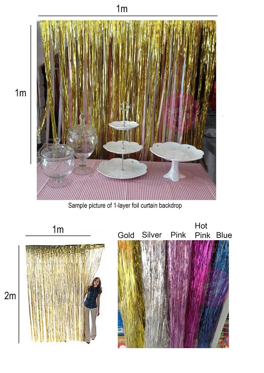 Pink Metallic Door Curtain Home The Honoroak 1x5m Gold Foil