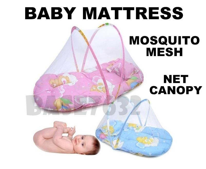 Fold N Go  Portable Travel Baby Infant Mattress Bed Mosquito Mesh Net