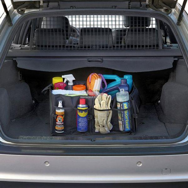 Foldable Car Auto Back Rear Trunk Seat Storage Bag Pocket Cage Organiz