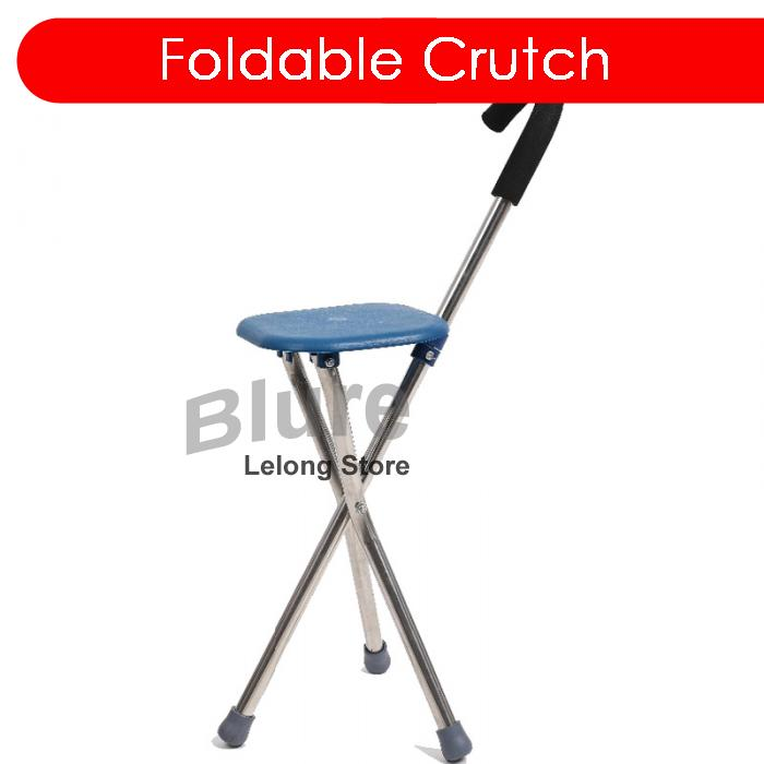 Incredible Foldable Crutch Cane Walking Stick Seat Stool Chair Square Pabps2019 Chair Design Images Pabps2019Com