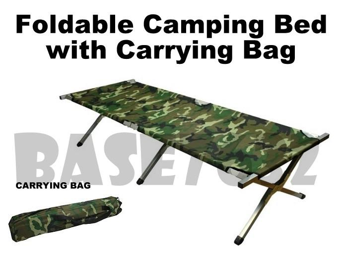 Foldable Folding Oxford Canvas Camouflage Army Camping Camp Cot Bed