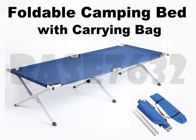 Foldable Folding Oxford Canvas Camping Camp Cot Bed Outdoor 1561.1