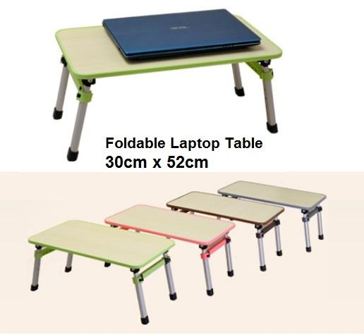 Foldable Laptop Table Adjustable Portable Notebook Bed Desk