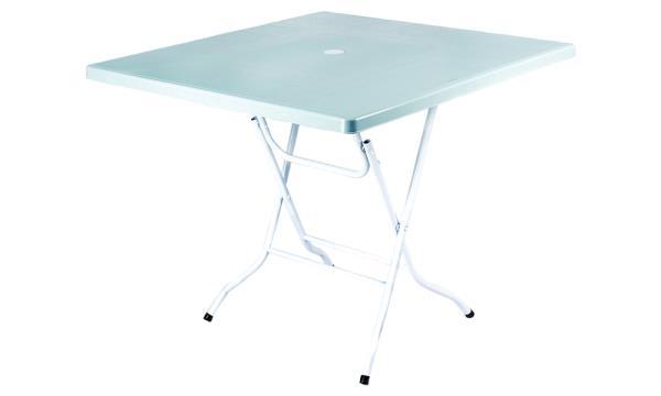 Foldable Square Table White. U2039 U203a