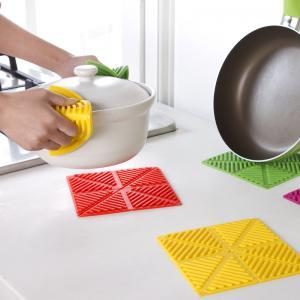 Foldable Thick Silicon Antislip Heatproof Tablemat