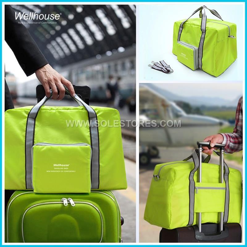 49acb4cff652 Foldable Travel Duffle Bag Luggage Sports Gym Water Resistant Nylon