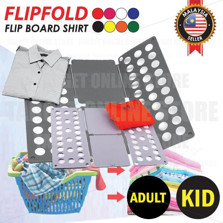 3b11dffe3eac Folding Board Shirt Flip Fold Lazy DIY Fast Clothes Folder Organiser
