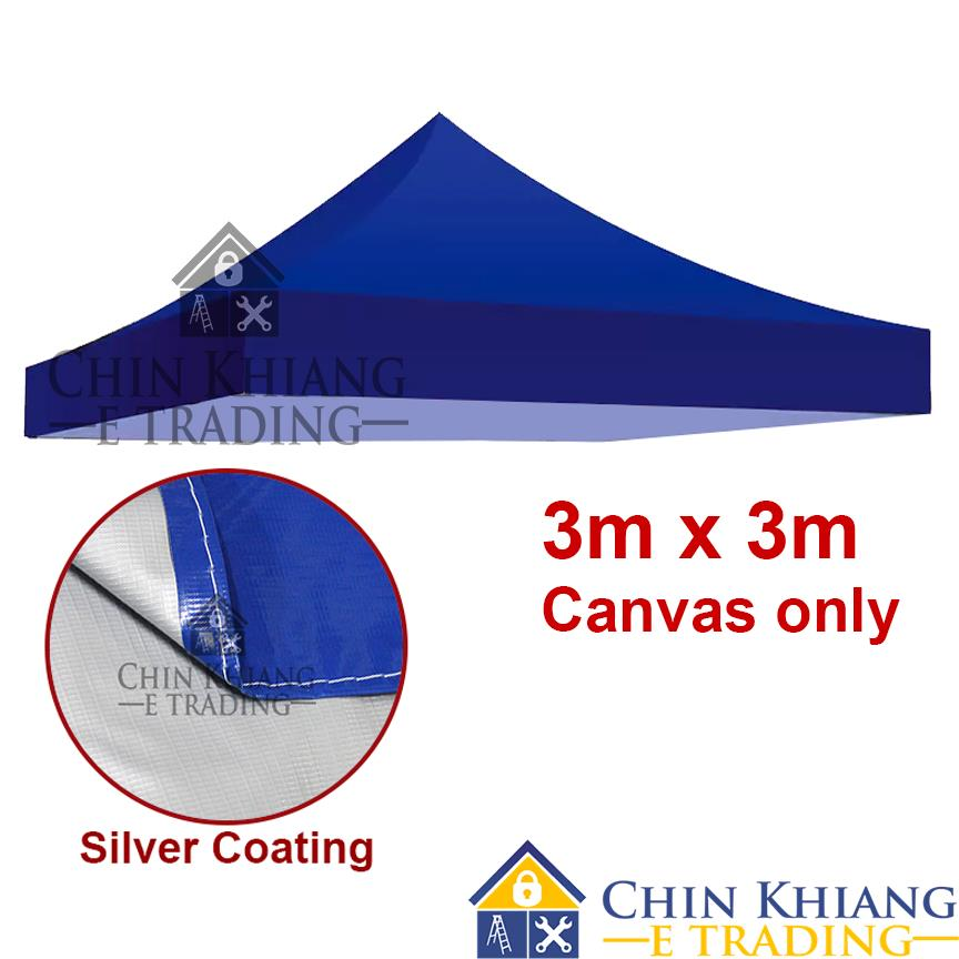 Folding Canopy Tent Canvas Khemah Silver Coating A30 Blue - 3m x 3m  sc 1 st  Lelong.my & Folding Canopy Tent Canvas Khemah Si (end 10/3/2018 2:15 PM)