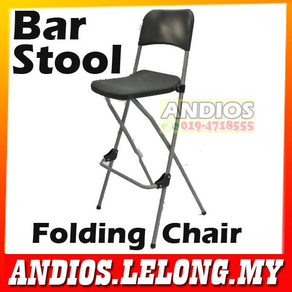 Folding Chair.High Bar Stool.Restaurant Furniture.Bar Kerusi Lipat. U2039 U203a