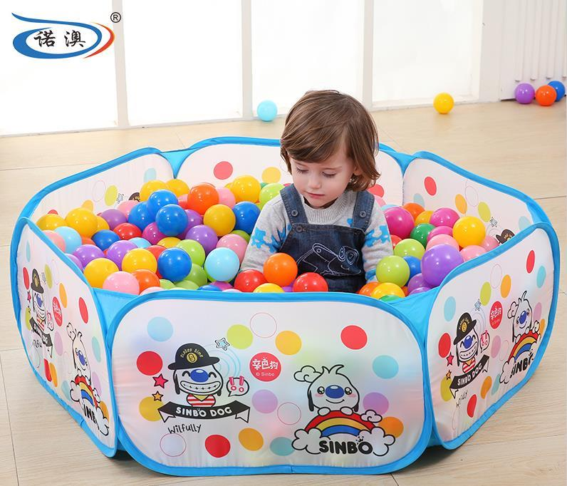 Folding Children Play Tent Pool Toys + 200 pcs Colorful Plastic Balls
