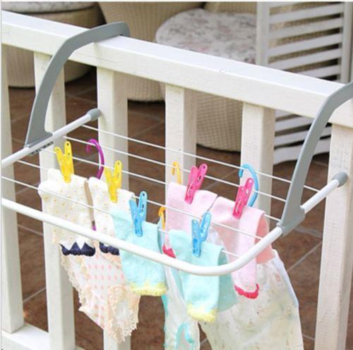 Folding Drying Rack Clothes Hanger Sidai Baju Lipat Diy Rumah Perabot