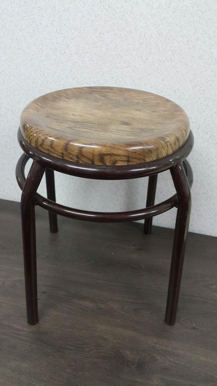 Food Court Chair Stool (wooden grain fibreglass)