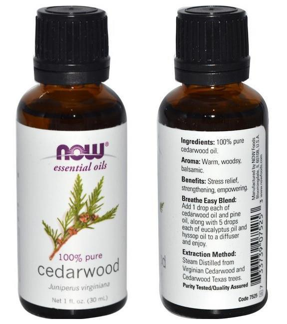 Now Foods, 100% Cedarwood Essential Oil (30ml)