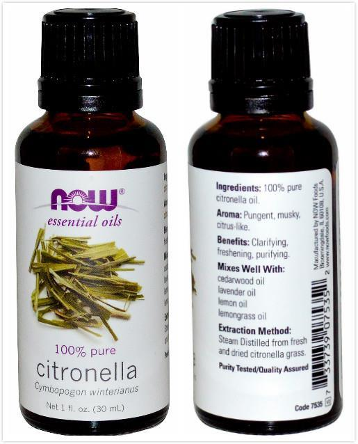 Now Foods, 100% Pure Citronella Essential Oil (30 ml)