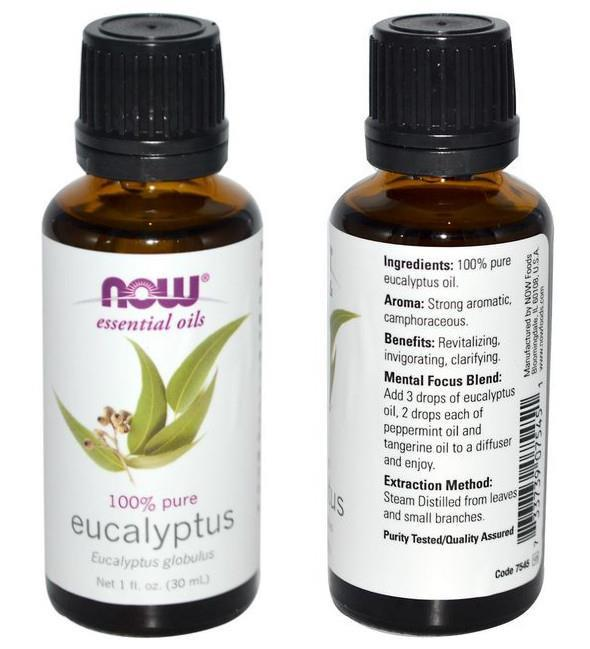 Now Foods, 100% Pure Eucalyptus Essential Oil (30 ml)