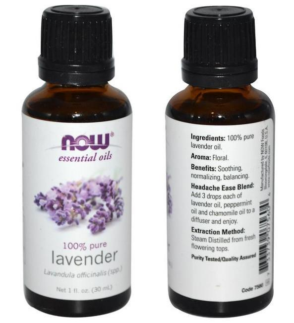 Now Foods, 100% Pure Lavender Essential Oil (30ml, 59ml)