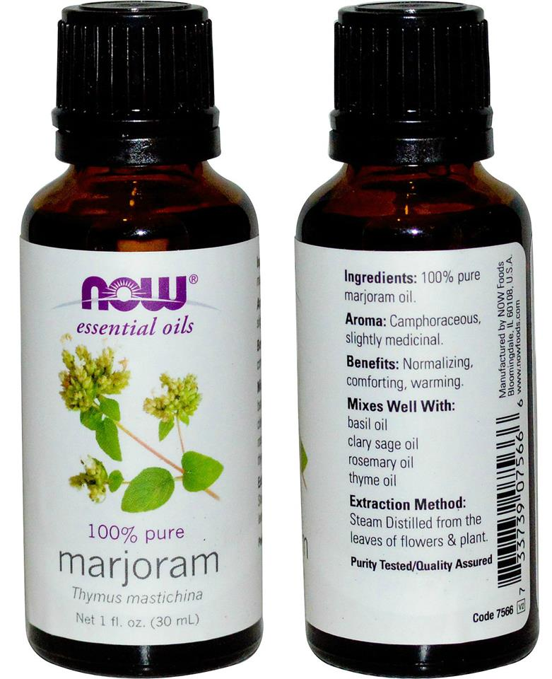 Now Foods, 100% Pure Marjoram Essential Oil (30 ml)