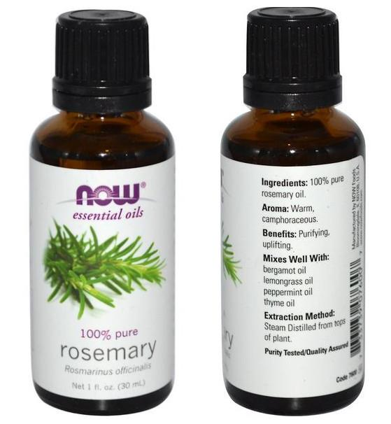 Now Foods, 100% Pure Rosemary Essential Oil (30 ml)