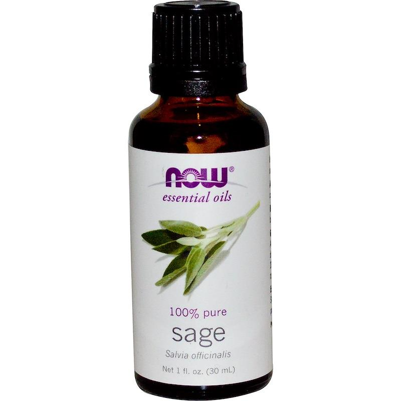 Now Foods, 100% Pure Sage Essential Oil (30 ml)