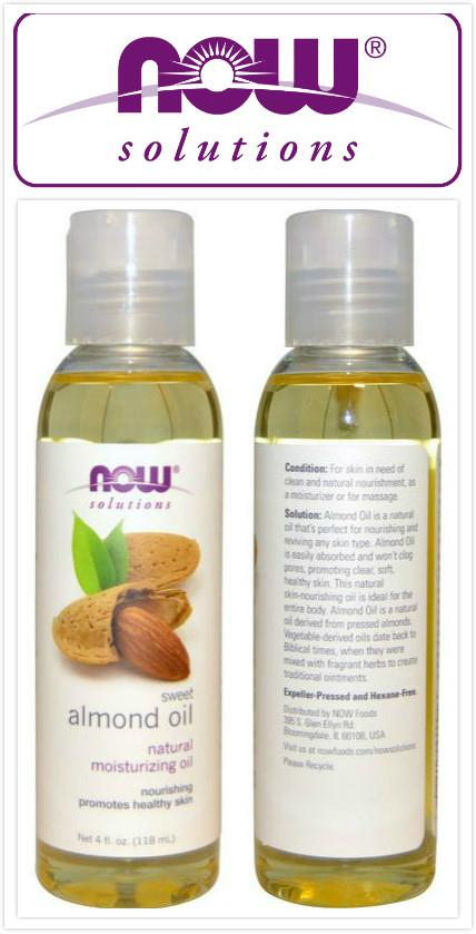 Now Foods, 100% Pure Sweet Almond Oil (118 ml)