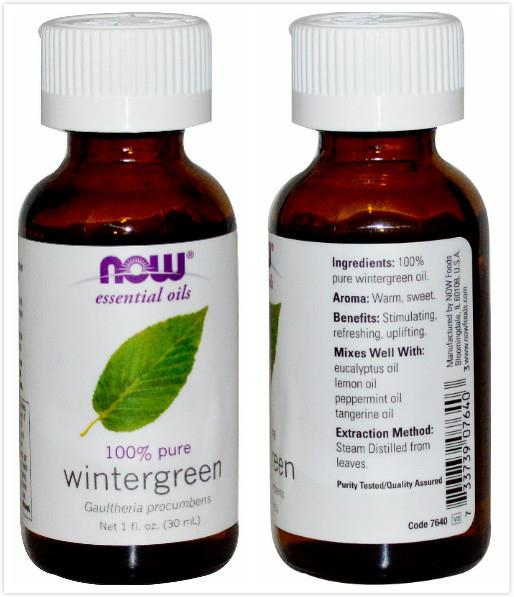 Now Foods, 100% Pure Wintergreen Essential Oil (30 ml)