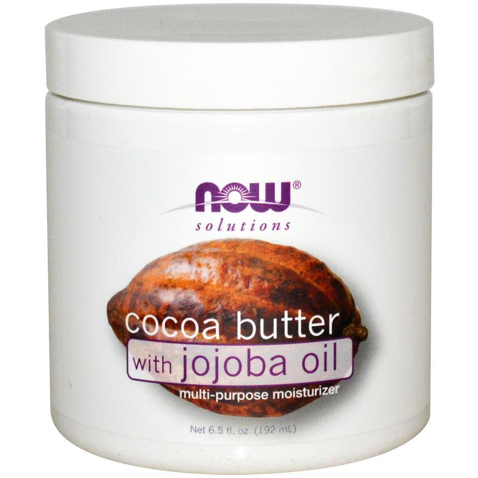 Now Foods, Cocoa Butter, with Jojoba Oil (192 ml)