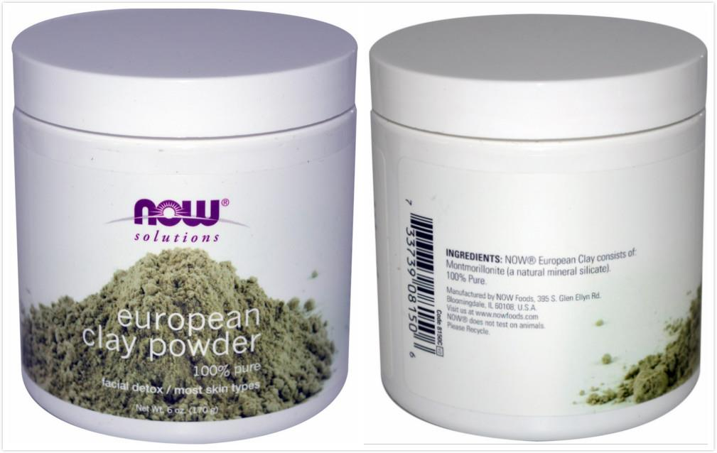Now Foods, European Clay Powder, Facial Detox (170 g)