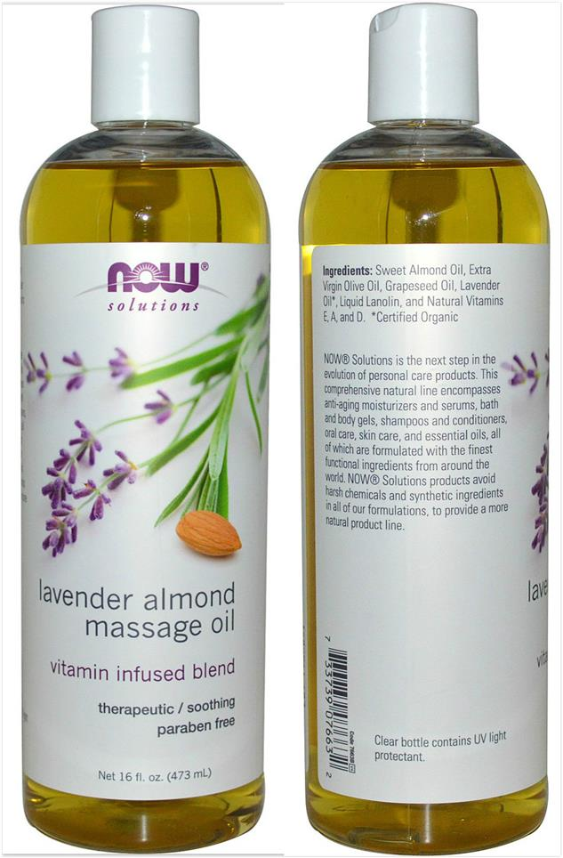 Now Foods, Lavender Almond Massage Oil (473 ml)