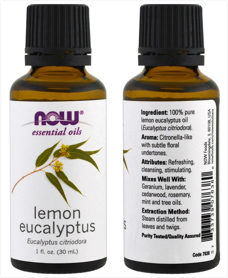 Now Foods, Lemon Eucalyptus Essential Oil, Eucalyptus Citridora (30ml)