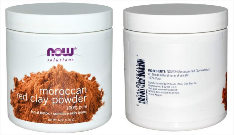 Now Foods, Moroccan Red Clay, Facial Detox (170g)