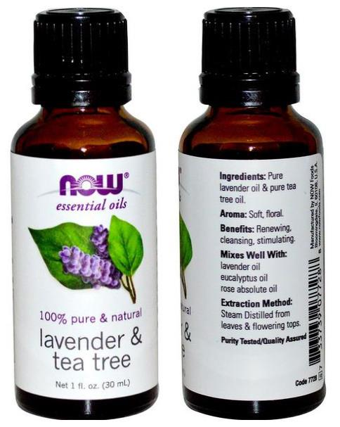 Now Foods, Pure Lavender & Tea Tree Essential Oil (30 ml)