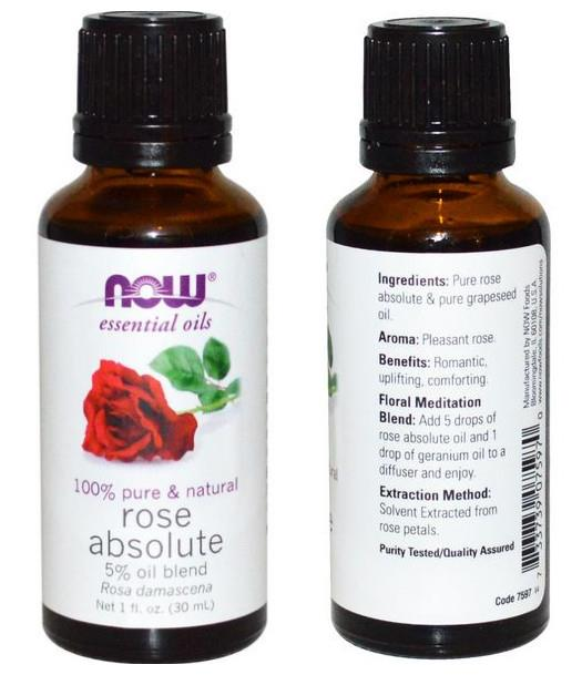 Now Foods, Rose Absolute Essential Oil, 5% Blend (30 ml)