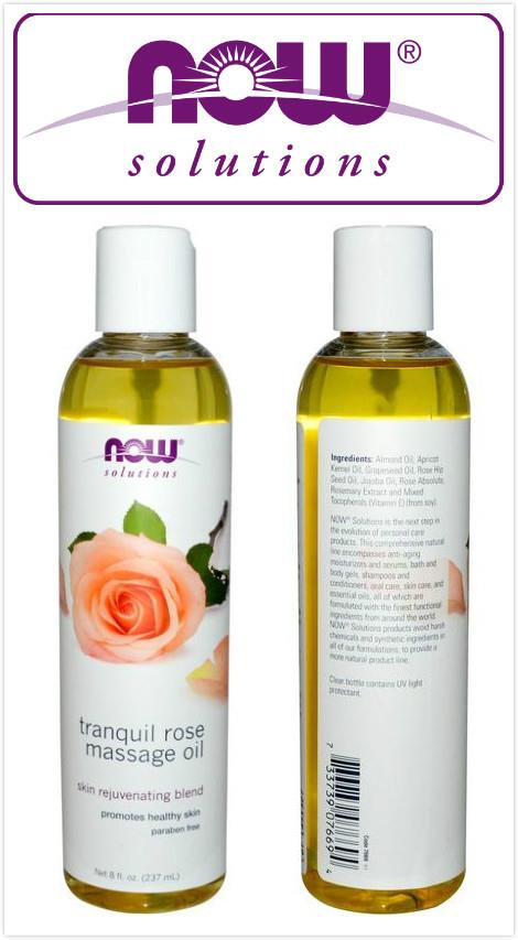 Now Foods, Tranquil Rose Massage Oil, Rejuvenate Skin (237ml)