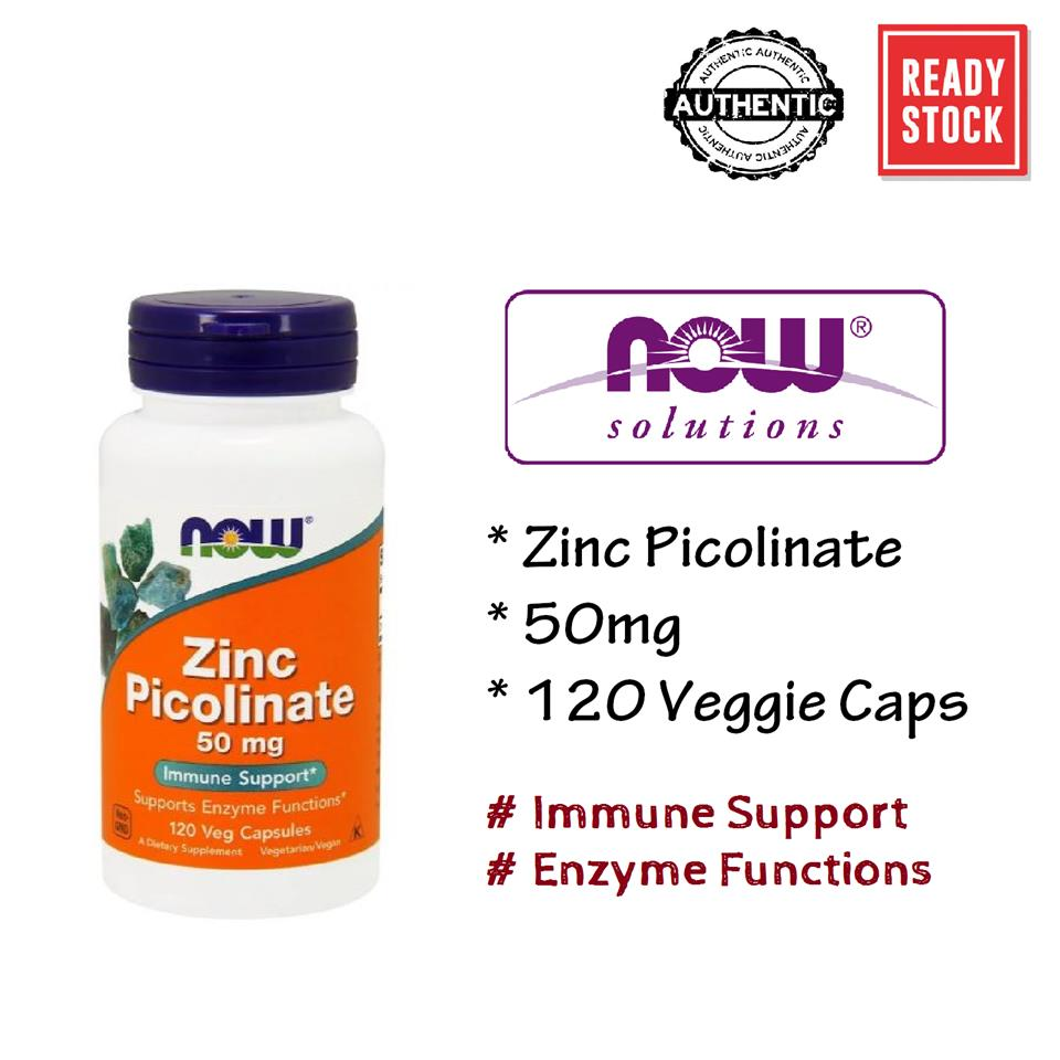Now Foods, Zinc Picolinate, 50 mg, Immune Support (120 Vcaps)