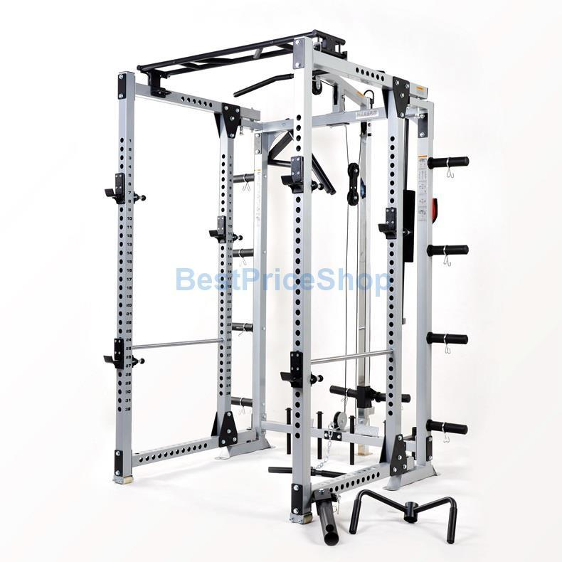 cc8b3adfdb Force Monster Multifunction Foldable Smith Machine Home Gym Power Rack