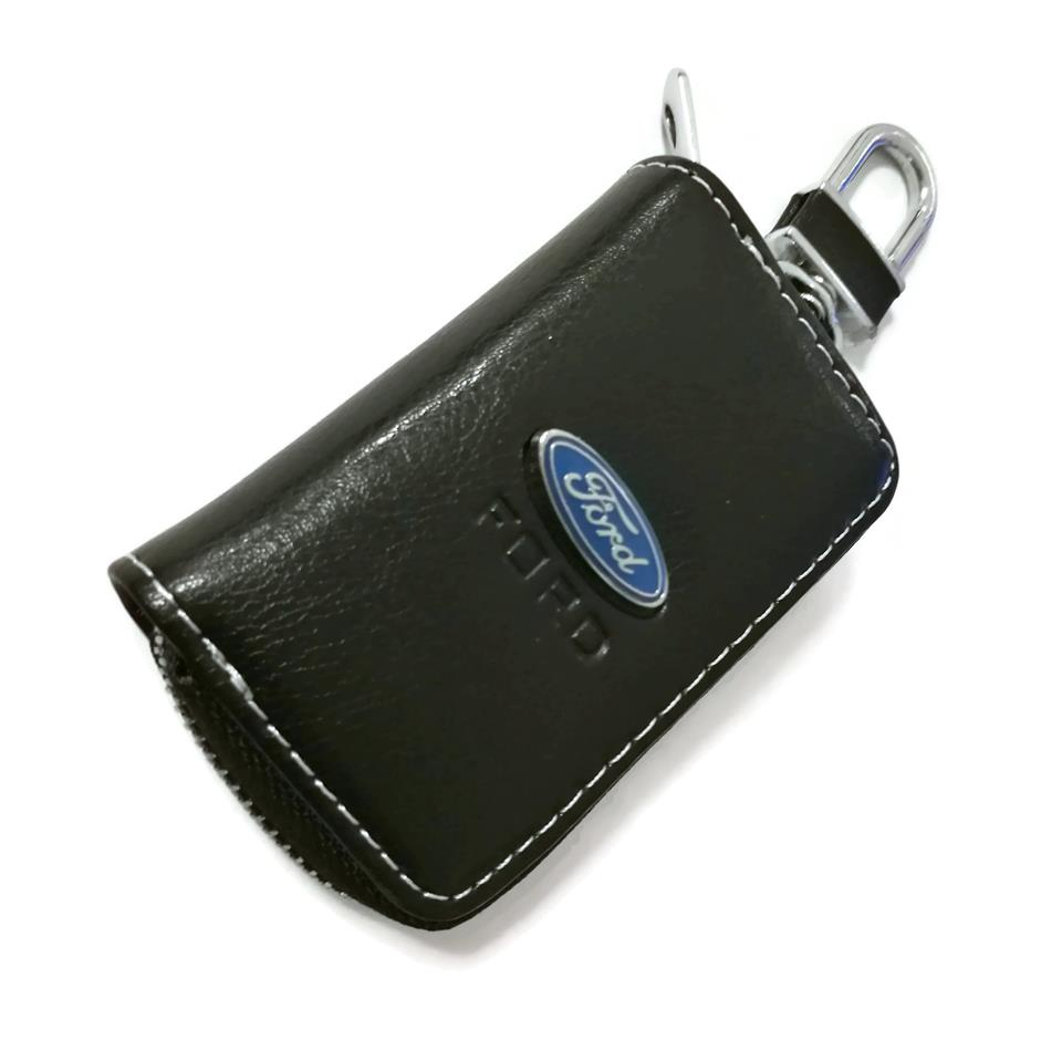 Ford Car Key Pouch / Key Chain / Key Holder Genuine Leather(Type A)