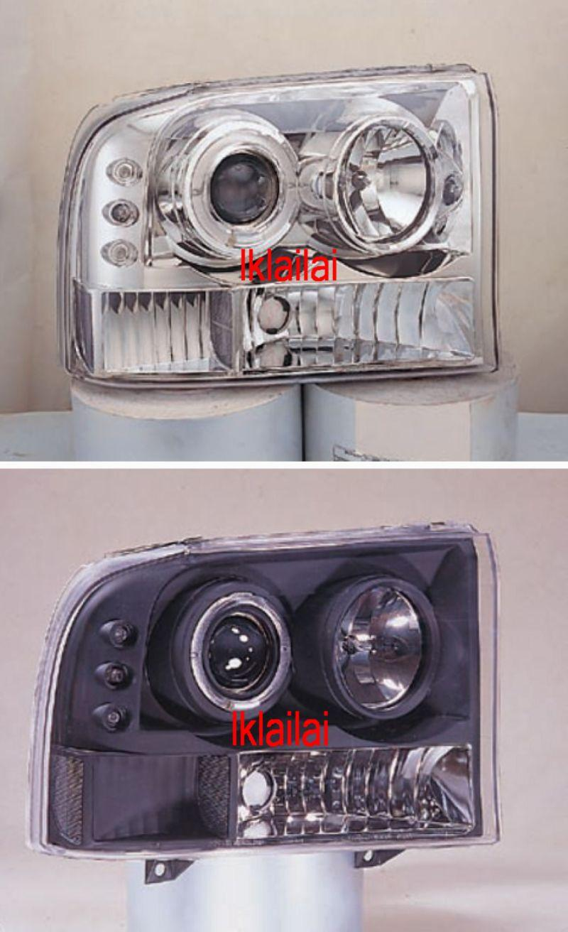 2004 Ford F 250 Super Duty Led Lighting F250 99 04 Ring End 11 2 2018 155 Pm Head Lamp Black Chrome Housing