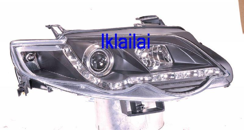 Ford Falcon XR6 '08 Projector Head Lamp Black [R8 DRL Look]