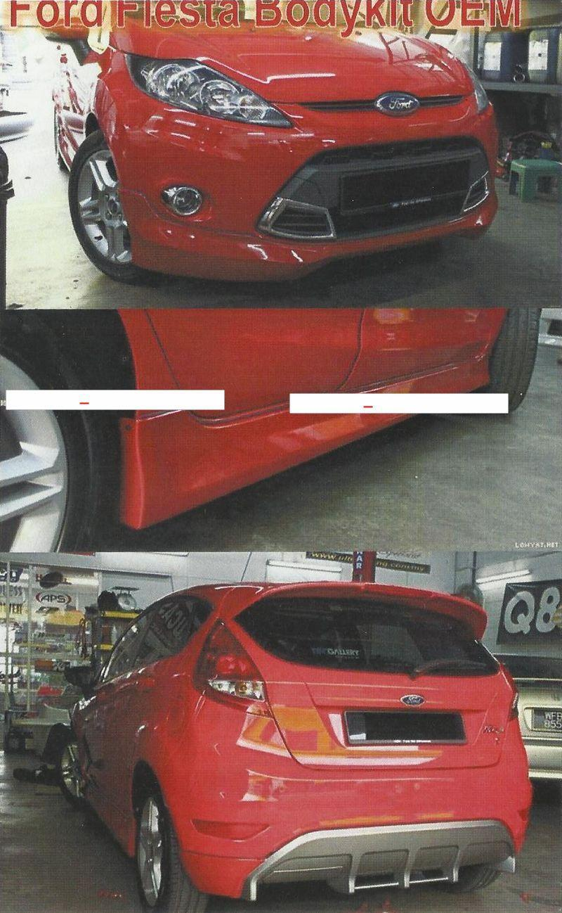 Ford Fiesta Sport Body Kit Rm680[No paint]; Rm1000[with paint]