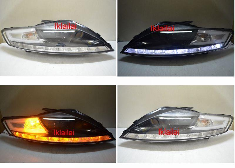 FORD MONDEO '08-12 Projector Head Lamp LED RL R8 [Black]