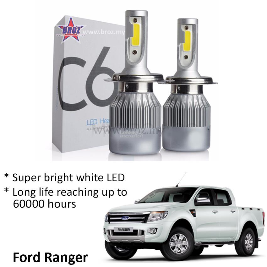 Ford Ranger  C6 LED Light Car Auto Head light Lamp 6500K